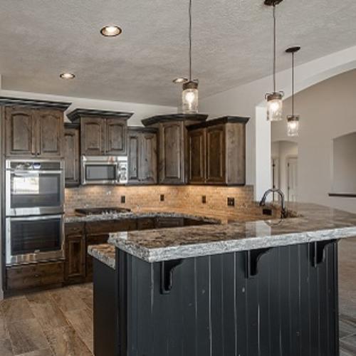 Kitchen with Alder Cabinets