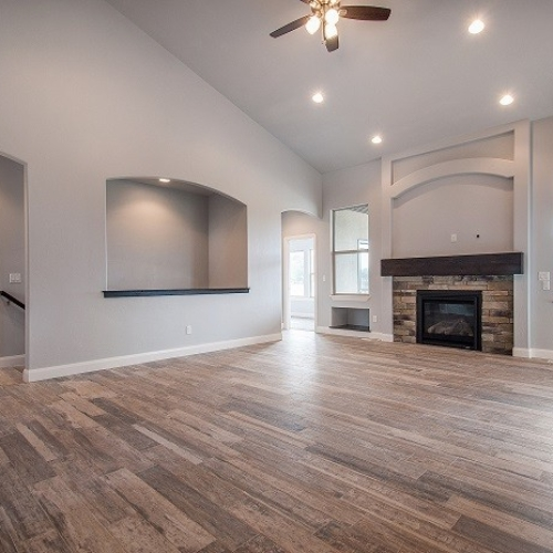 Great Room with Wood Flooring