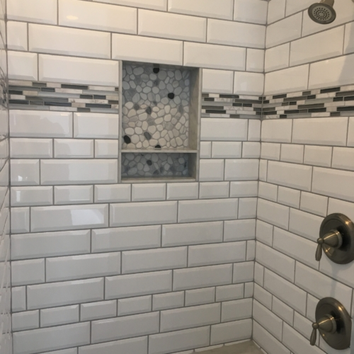 Shower with Subway Tiles