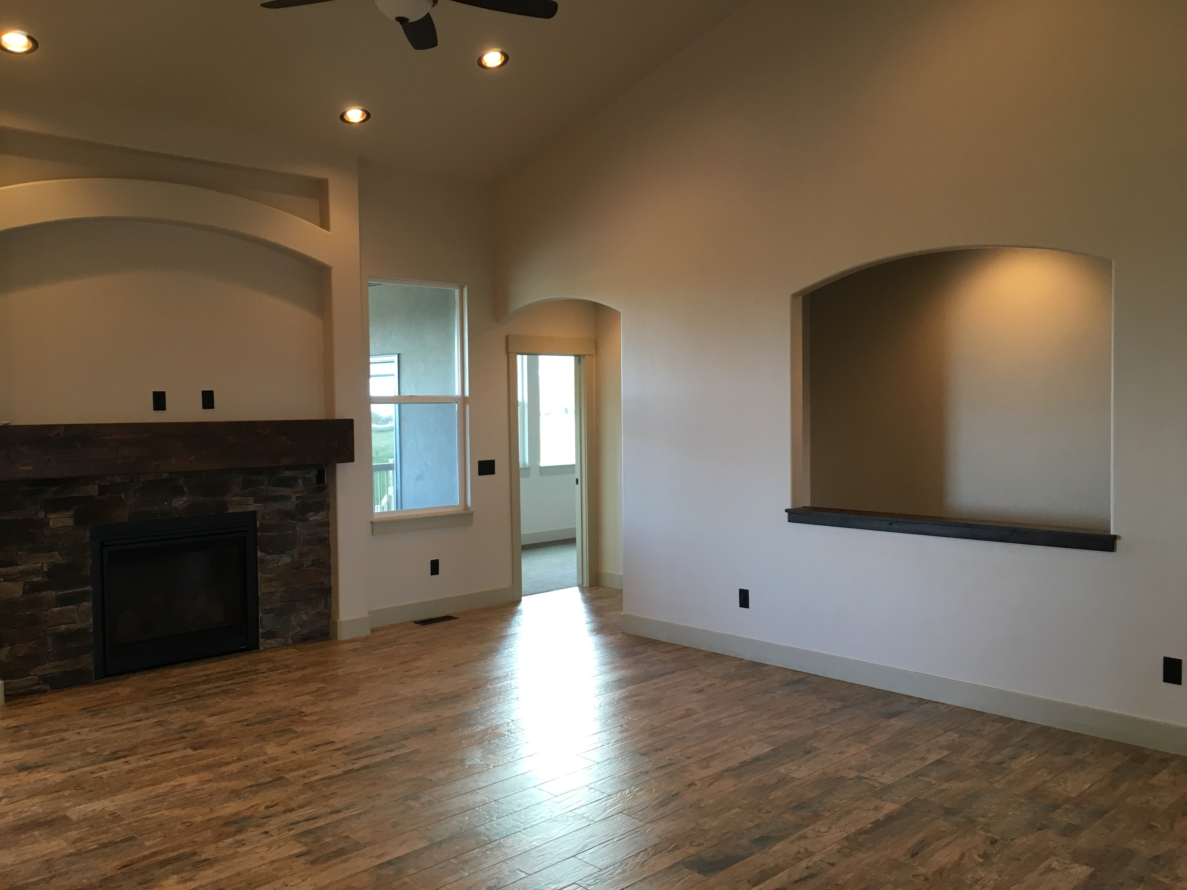 Great Room with Recessed Lighting