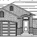 Braden floor plan exterior sketch
