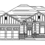 Dunlavy floor plan exterior sketch