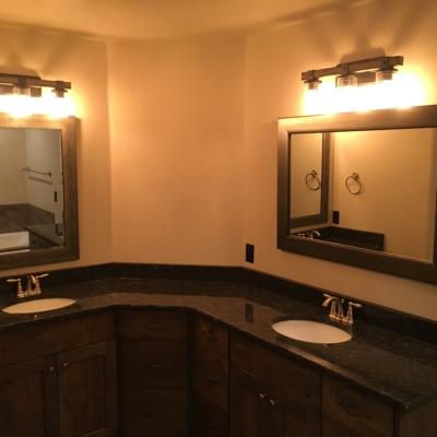 new home construction bathroom