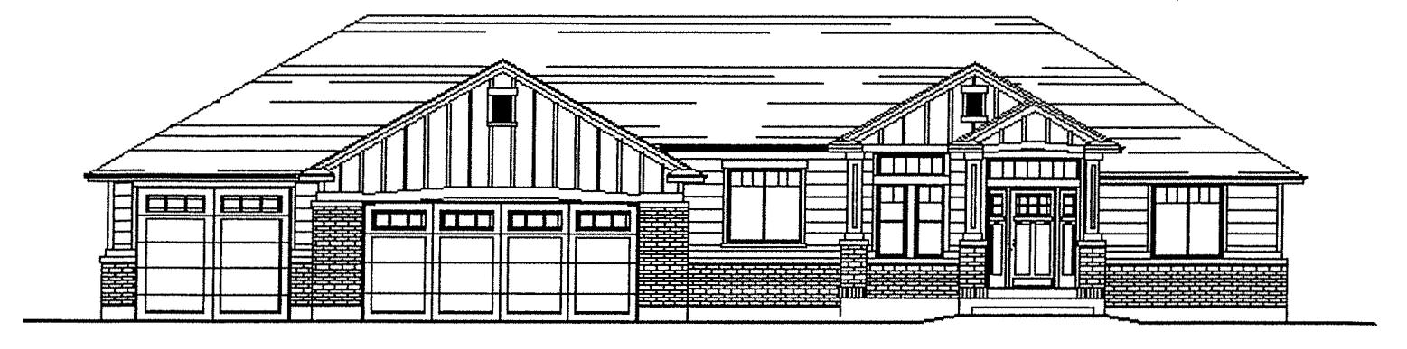 Isabella floor plan exterior sketch