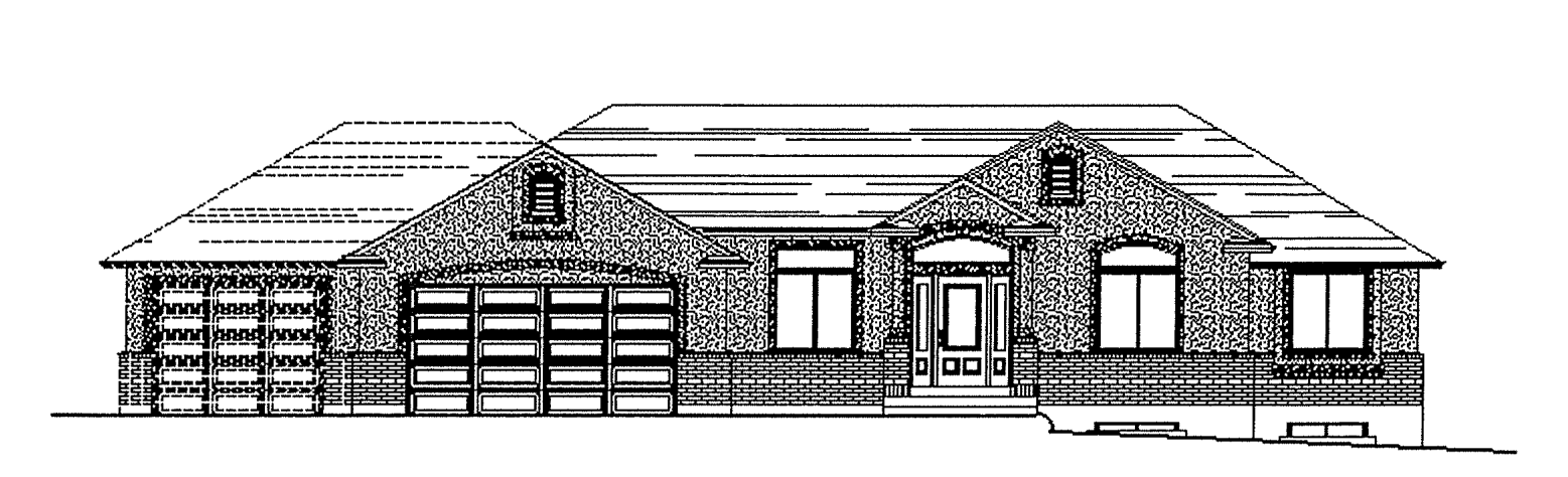 Mather floor plan exterior sketch